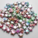 paper stars, Assorted colours, 0.8cm x 1.5cm x 1.5cm, 30 pieces, (PS007)